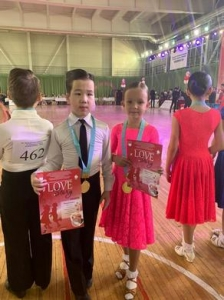 Sarkenov Ayat won the 1st place in the International tournament on sports dances